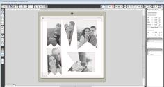 the crop tool to make her photos fit the banner shapes