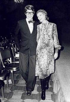 Yves Saint Laurent & Nan Kempner