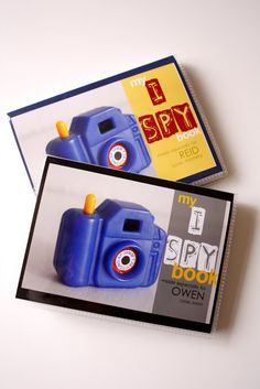 Make your own I Spy books with your own toys...inexpensive & fun!