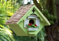 love the flowers on the bird house