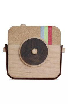 Toy 'wooden Instagram' camera