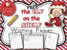 Elf on the shelf free writing paper