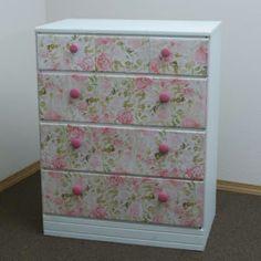 Decoupaged dresser
