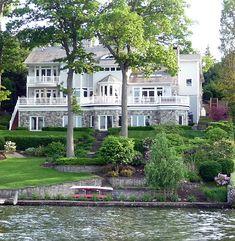 dream lake house, cottag, cool houses ideas, cool house decor, hous idea, lake home, dream houses, beauti lake, lake houses exterior