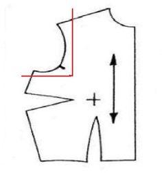 altering a shoulder