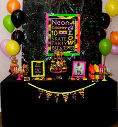 good display for glow in the dark party ideas