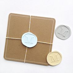 DIY Faux Wax Seals made with the Silhouette