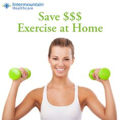 Are two of your new year's resolutions to get more exercise and save more money? If so, then this pin is for you! http://intermountainhealthcare.org/blogs/2013/12/affordable-exercise-at-home/ #resolutions #fitness #exercise #savingmoney #healthyliving #healthylifestyle
