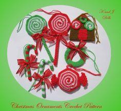 Christmas ornaments crochet pattern ~ Amigurumi crochet patterns ~ K and J Dolls