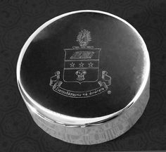 Alpha Chi Omega Engraved Crest Jewelry Box