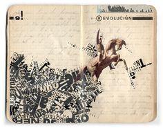 collage sketchbook