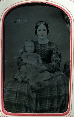 Tintype Framed Mother & Child