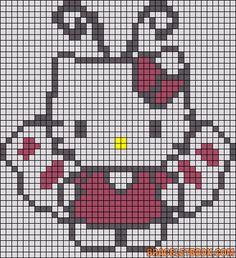 Hello Kitty butterfly perler bead pattern