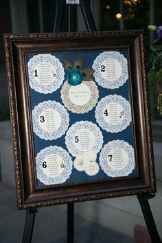 Really cool Peacock table seating chart!