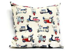 British Pillow cover -18x18 Decorative cushion cover