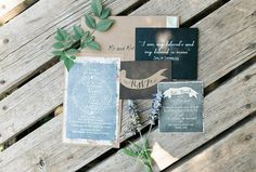 chalkboard inspired invitations, photo by Erica Houck Photography http://ruffledblog.com/rural-california-wedding #weddinginvitations #stationery
