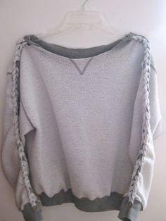 DIY Braided Sweatshirt