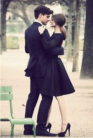 Classy engagement picture