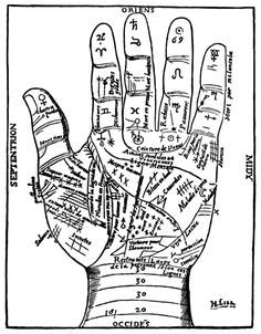 DIY Palm Reading Chart Pritable from Vintage Fangirl here. This would could go perfectly with the DIY Fortune Teller Booth here. hand, reading charts, halloween craft, vintage, palmistri, la mano, astrology, palms, palm read