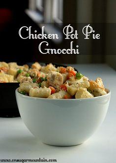 Chicken Pot Pie Gnocchi Recipe - On Sugar Mountain