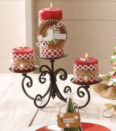 Create decorative holiday candles with #DIY candle wraps! #fabulouslyfestive