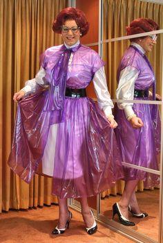 Prim plastic overdress,