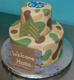 Welcome home party cake idea
