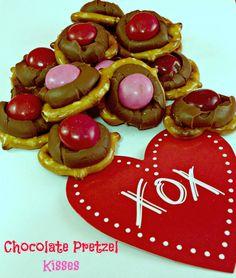 Chocolate Pretzel Kisses #treats #ValentinesDay #Valentines #recipe