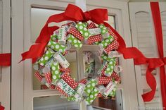 Wrapping paper wreath!