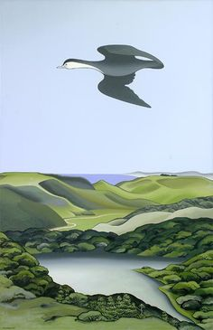 oil paintings, portfolio general, don binney, nativ bird, artist nz, nz artist