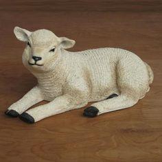 Resting Lamb - Fiberglass (22W) 54 scale $129.00 http://www.christmasnightinc.com/c260/Resting-Lamb-Fiberglass-22W-54-scale-p136.html#