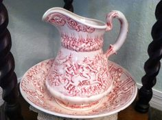 Apple of His Eye: Victorian Pitcher & Bowl set