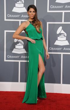 Ali Tamposi arrives at the 55th Annual GRAMMY Awards