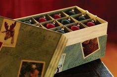 Create a Christmas Ornament Box for Your Child as a Lasting Family Heritage and Keepsake.