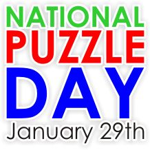 Projects - Puzzle News - National Puzzle Day - January 29th