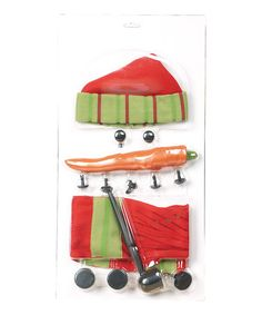 Loving this Red & Green Build-A-Snowman Kit on #zulily! #zulilyfinds