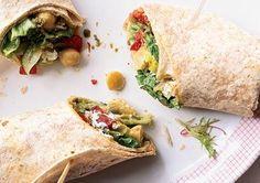 Flat Belly Diet Meatless Meals - Mediterranean Salad Wraps...YUM!