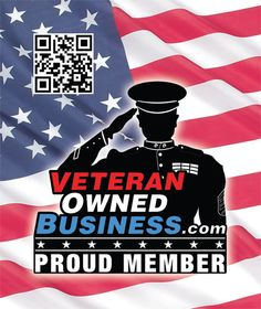 "Veteran Owned Business ""Proud Member"" Sticker and Window Cling."
