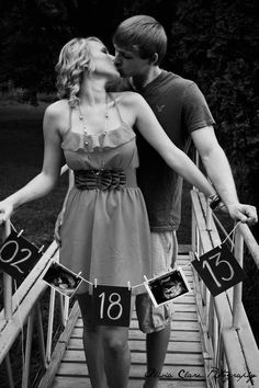 this is really cute and it would be good for two not so photogenic people my husband and I, lol. Although once I'm pregnant I'm sure 85% of the time I'll be big smiles. :-)