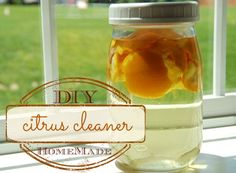Love cleaning with vinegar but not so much the scent? Infuse your vinegar with citrus peels for a burst of zing. Via Domestic Serenity