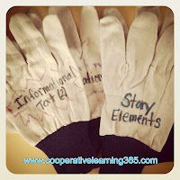 Using a cheap pair of work gloves have students put these on during reading conferences to initiate conversation.  Cooperative Learning 365: