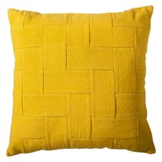 Nate Berkus Woven Twill Decorative Yellow Pillow $25