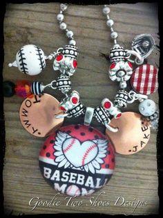 Baseball Mom Charm Necklace