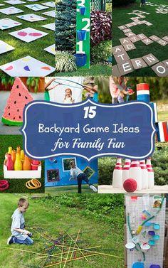 15 Backyard Game Ideas for Family Fun
