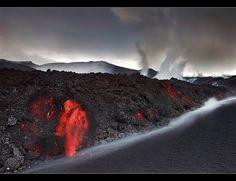 A Rock is Born - Eyjafjallajökull Eruption by orvaratli, via Flickr