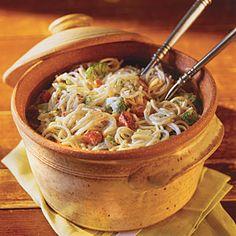 Quick-Fix 20-Minute Meals | Ham-and-Broccoli Ranch Noodles | SouthernLiving.com