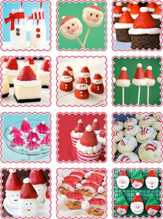 A dozen scrumptious Santa snacks for Christmas! #christmas #food #recipes #santa
