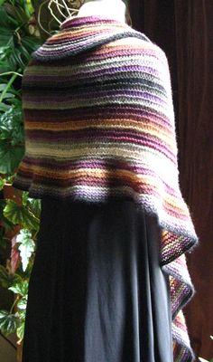 Light-as-air striped shawl