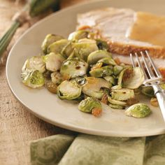 Brussels Sprouts with Golden Raisins Recipe