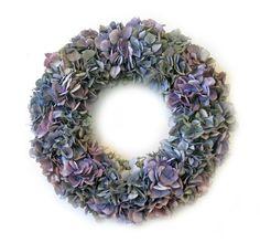 Purple Hydrangea Wreath #spring